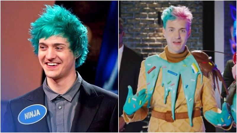 Ninja in Family Feud (L) and The Masked Singer (R)