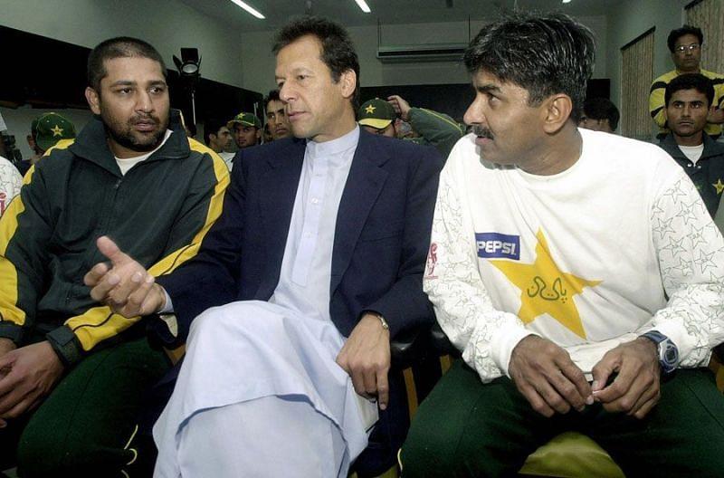 Imran Khan, Inzamam-ul-Haq and Javed Miandad