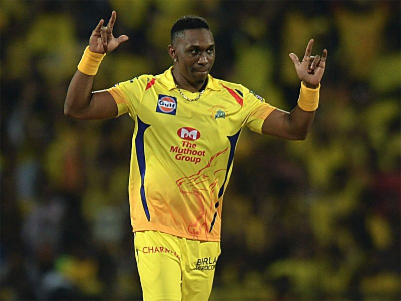 Dwayne Bravo playing for CSK