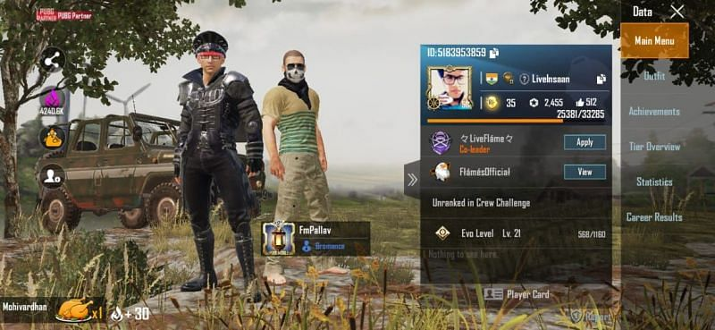 Triggered Insaan (Live Insaan) PUBG Mobile ID, stats, K/D ratio and more