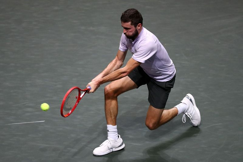 Gilles Simon in action at the 2020 Rotterdam Open