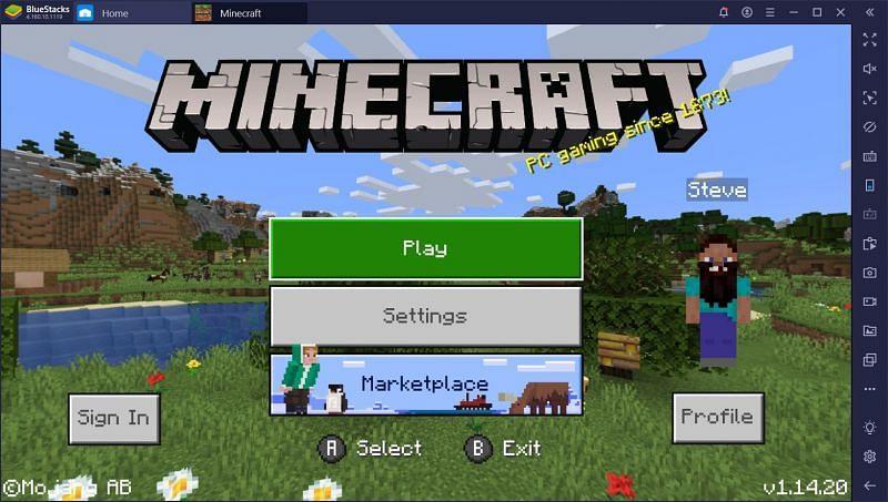 Minecraft on BlueStacks (image credits: BlueStacks)