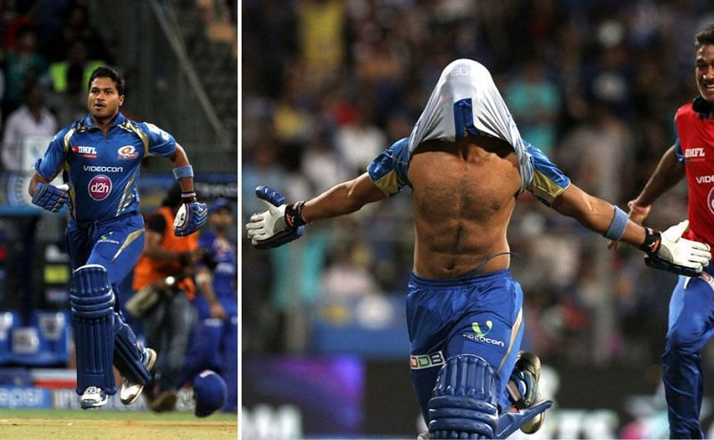 IPL fans will never forget this image of Aditya Tare celebrating a dramatic victory for Mumbai Indians.