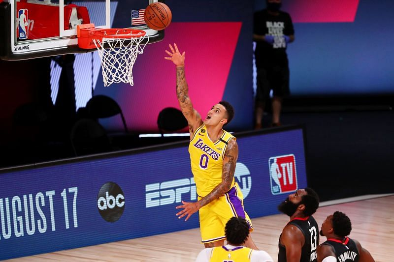 Kyle Kuzma in action for the LA Lakers