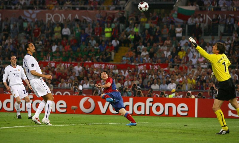 Lionel Messi scored for Barcelona in the UCL final against Manchester United