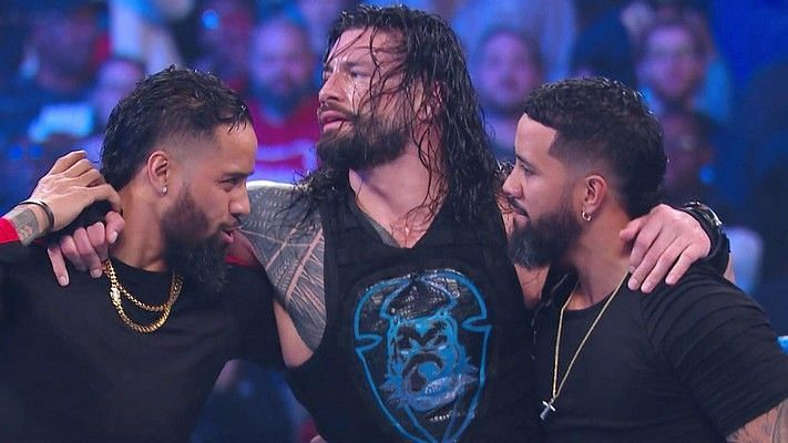 The Usos with Roman Reigns in WWE