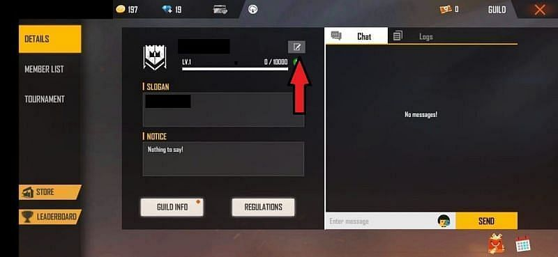 Click on the rename icon
