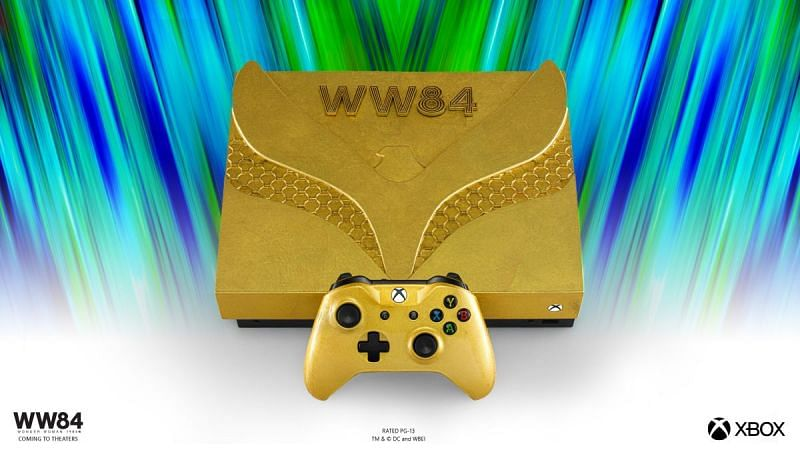 Wonder Woman Golden Armor Xbox One X Console (Image Credits: Xbox News)
