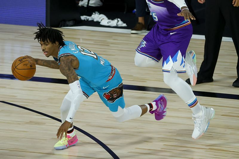 Ja Morant in action for the Memphis Grizzlies