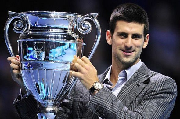 Novak Djokovic has clinched the Year-End No.1 trophy five times in his career