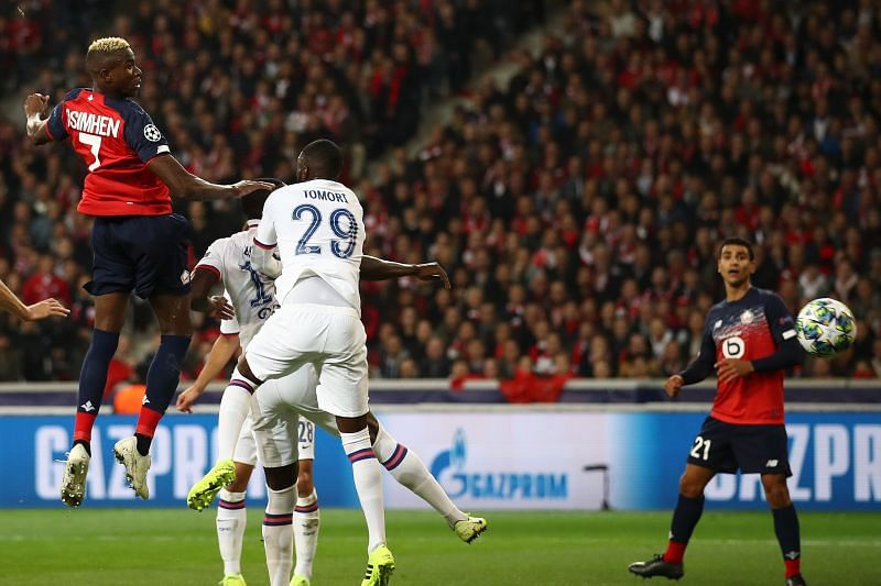 Victor Osimhen of Lille scores a goal during the UEFA Champions League