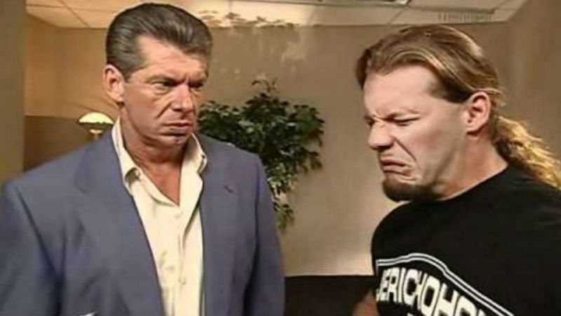 Chris Jericho and Vince McMahon in WWE