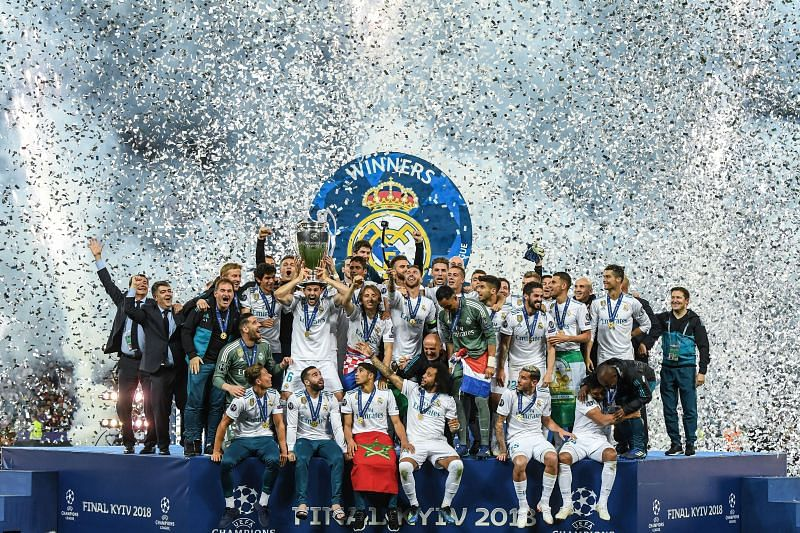 Real Madrid won their third UCL in as many years