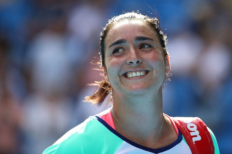 Ons Jabuer beat defending champion Madison Keys in her last match.