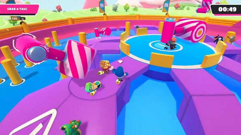 Royale Rumble has only one tail, and players compete for it in the final match stage of the match (Image Credit: Fall Guys)