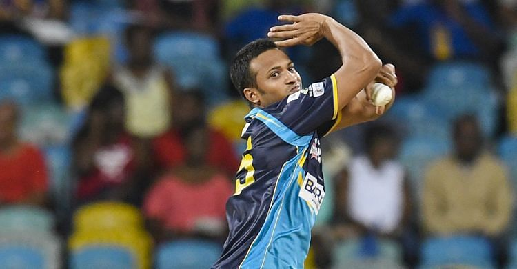 Shakib Al Hasan holds the record for the best bowling figures in the CPL