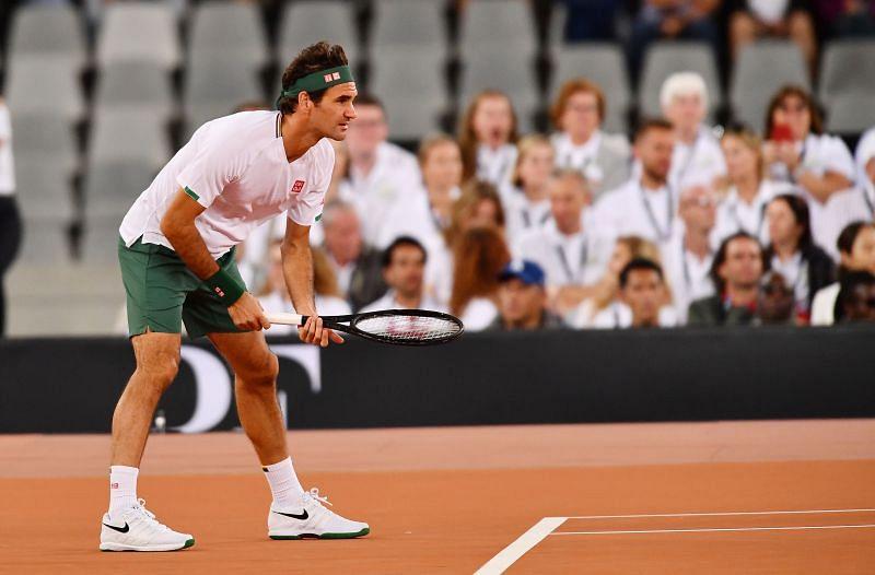 Roger Federer is always focused when on-court