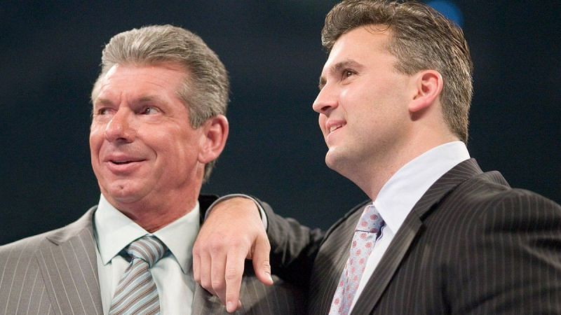 Vince McMahon and his son Shane haven