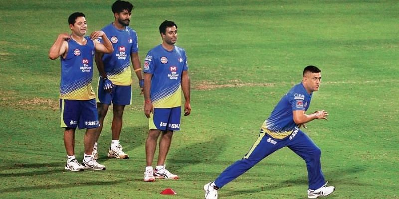 Chennai Super Kings underwent a five-day training camp in Chennai before flying out to Dubai (Image Credits: New Indian Express)
