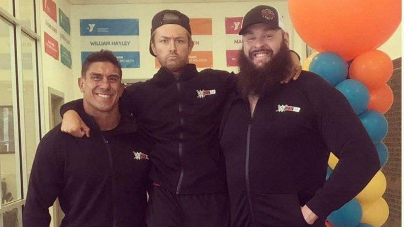 Braun Strowman, EC3 and Drake Maverick are close friends in real life.