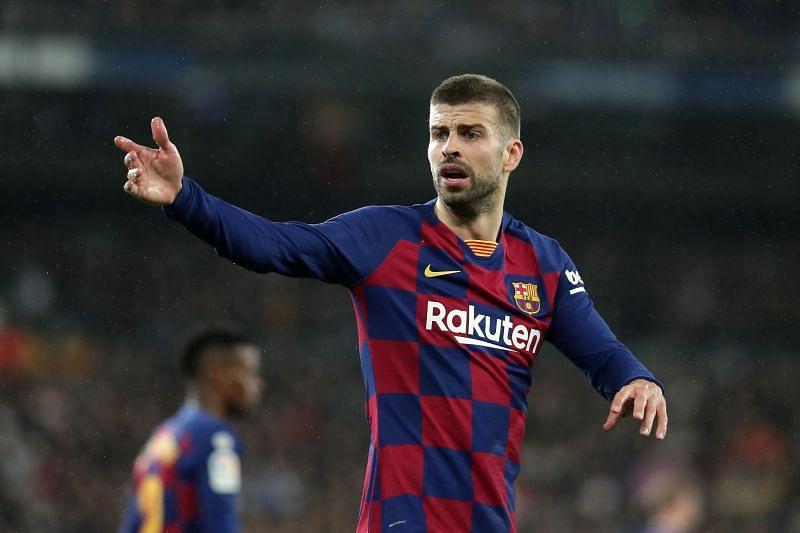 Gerard Pique in action for Barcelona