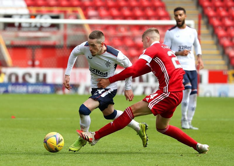 Ryan Kent scored the only goal for Rangers against Aberdeen on Saturday