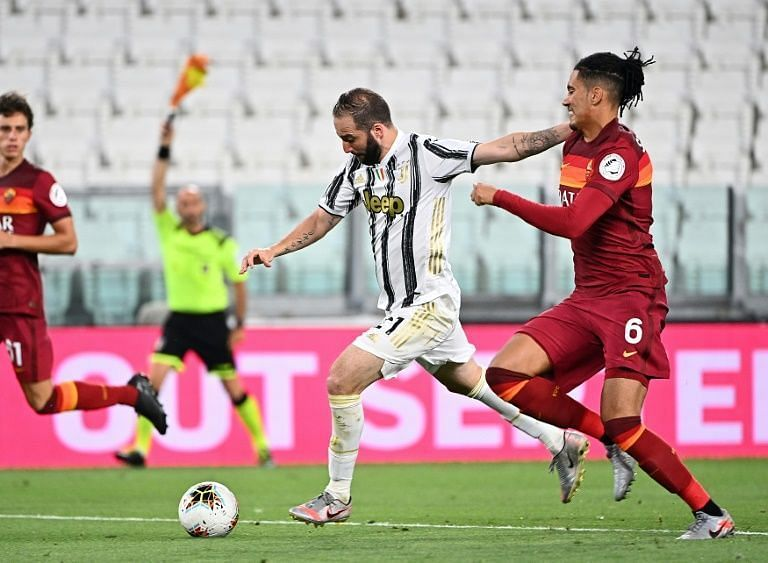 Juventus were served the opener on a plate by Roma