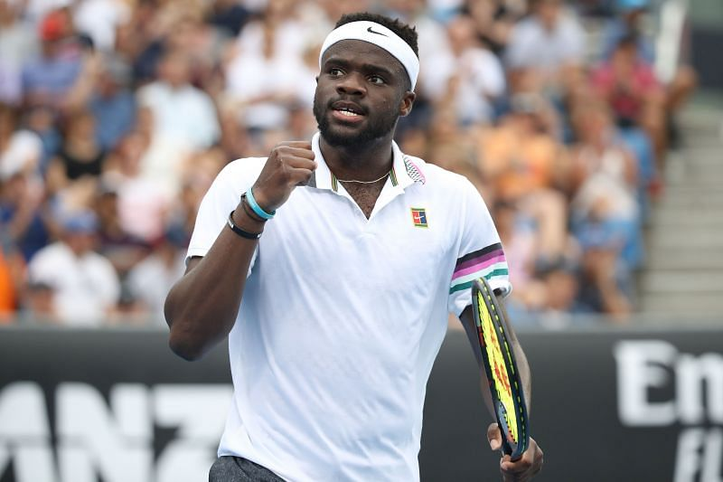 Frances Tiafoe during his third round win against Andreas Seppi at the 2019 Australian Open