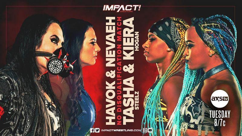 Nevaeh and Havok will take on Tasha Steelz and Kiera Hogan tonight!