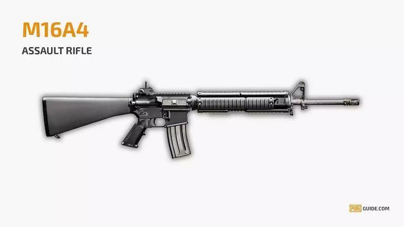 M16A4 weapon in PUBG Mobile (Image Credit: PUBG Guide)