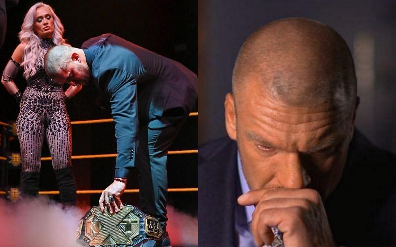 Triple H reacts to Karrion Kross relinquishing his title