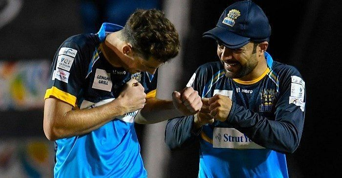Mitchell Santner (left) and Rashid Khan (right) will look to win more games for the Tridents.