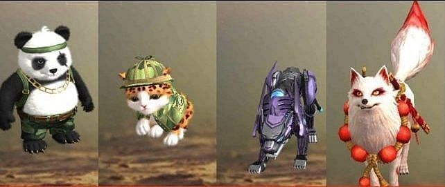 Some of the pets present in Free Fire