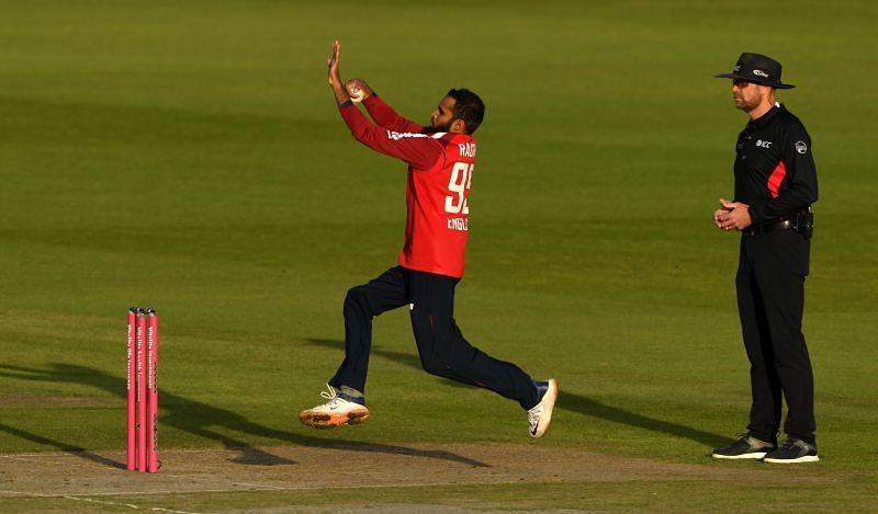 Adil Rashid in action against Australia