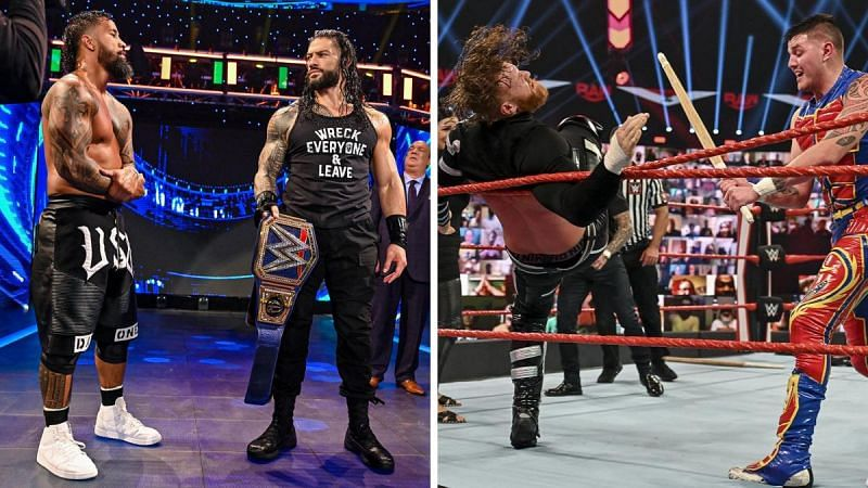 Roman Reigns and his next challenger (left); Dominik Mysterio continuing to impress (right)