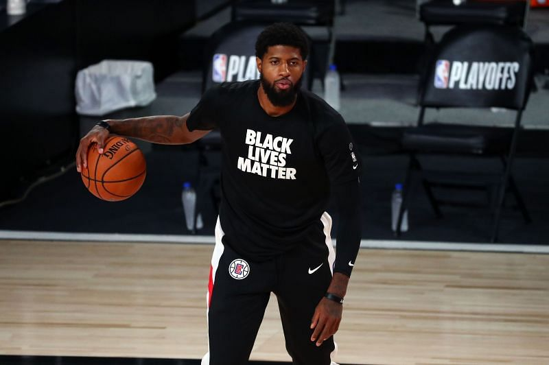 Paul George struggled on court for most of the series during their first round against the Dallas Mavericks