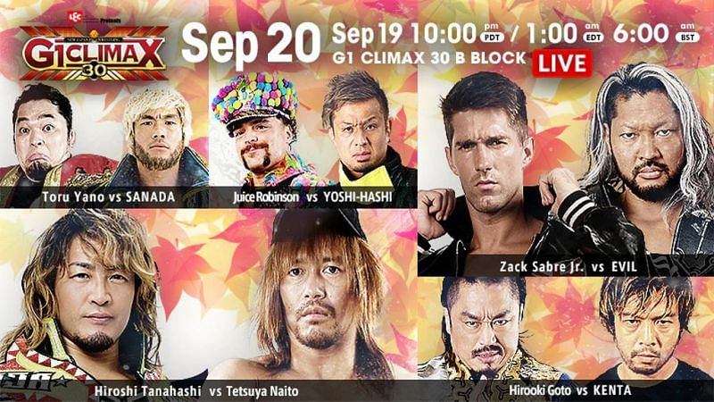 G1 Climax 30 Night 2 features more good to great matches from the B Block.