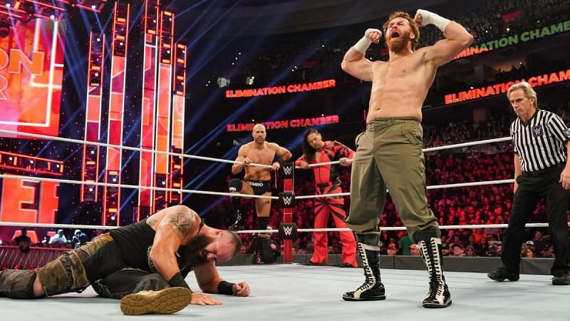 Sami Zayn won with some help from his friends The Artists Collective