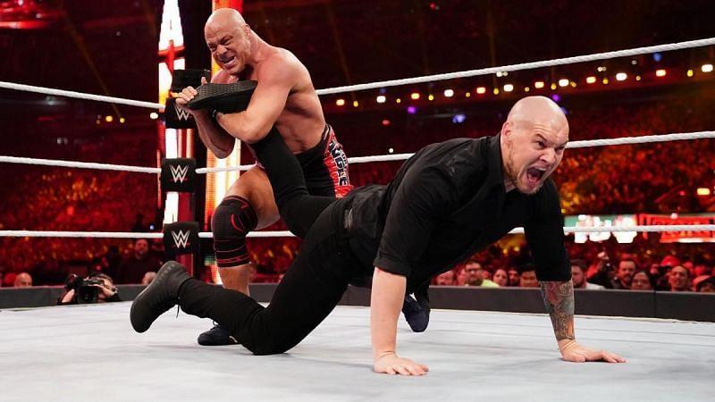 Angle battled Corbin at WrestleMania 35.