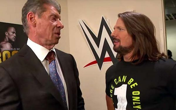 Vince McMahon and AJ Styles