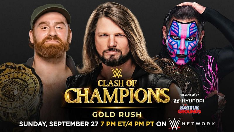The trio will face off in a ladder match at Clash of Champions for the Intercontinental Championship