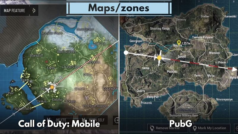 Maps in both the titles (Image Credits: PhoneArena)
