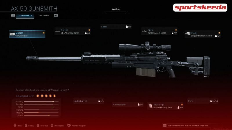 A look at what loadout will make the AX-50 unstoppable