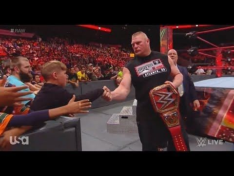 Brock Lesnar offering a handshake