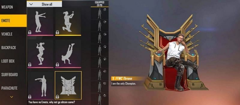 Free Fire All The Emotes In The Game