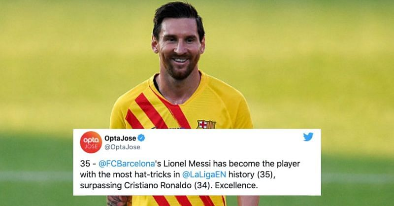 Lionel Messi broke a number of records last season