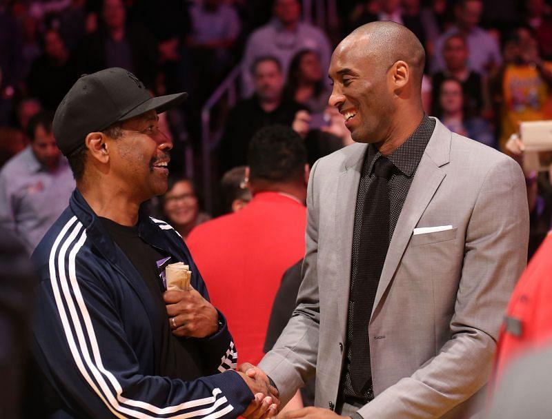 Denzel Washington with Kobe Bryant