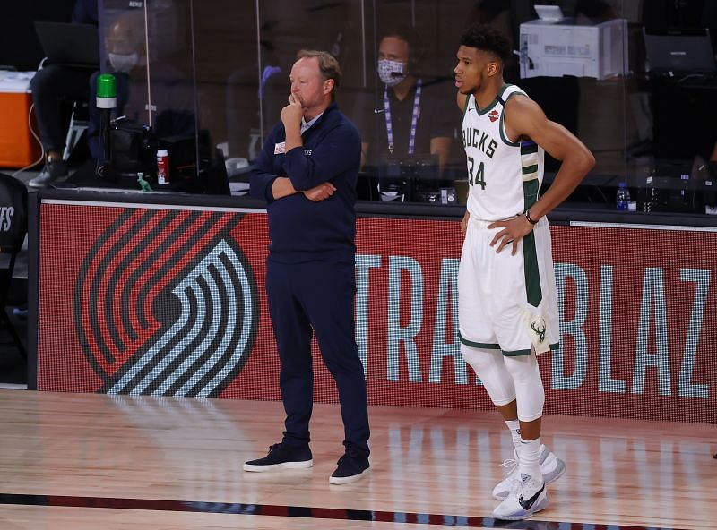 Milwaukee Bucks were knocked out of the 2020 NBA playoffs by the Miami Heat