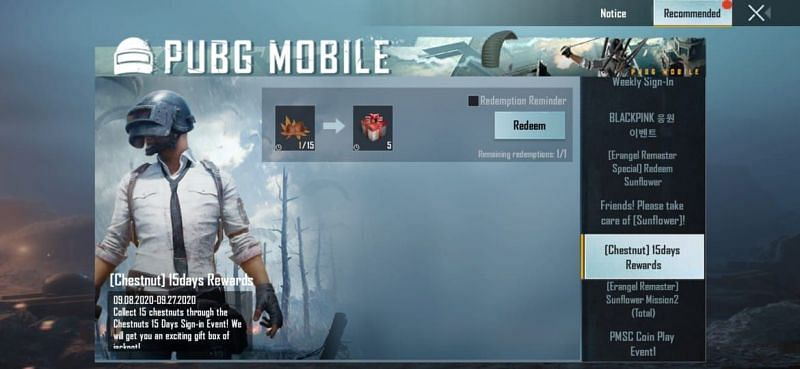 Different events present in PUBG Mobile KR
