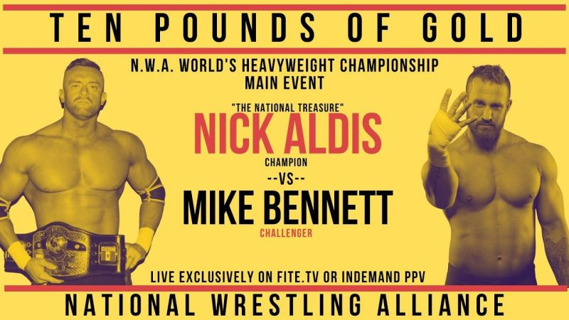 Nick Aldis successfully defends the NWA Worlds Heavyweight Championship against Mike Bennett.